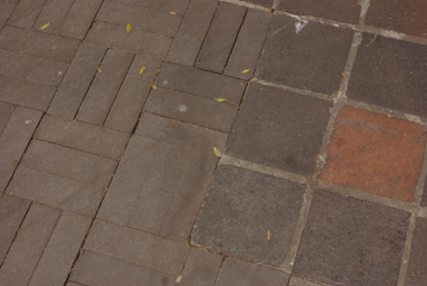 Dark bricks instead of Fitzroy's famous Bulli pavers (image)