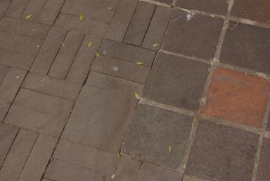 Dark bricks instead of Fitzroy's famous Bulli pavers (image)
