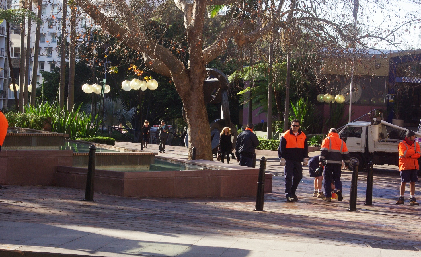 El Alamein Fountain bollards (image)