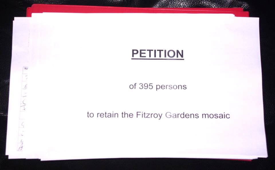 Retain Fitzroy Gardens Mosaic - Petition (image)